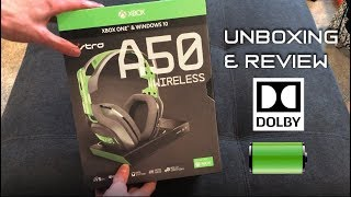 Astro A50 Wireless Gaming Headset for Xbox One and PC UNBOXING and REVIEW