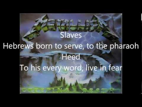 Creeping Death- Metallica- Lyrics