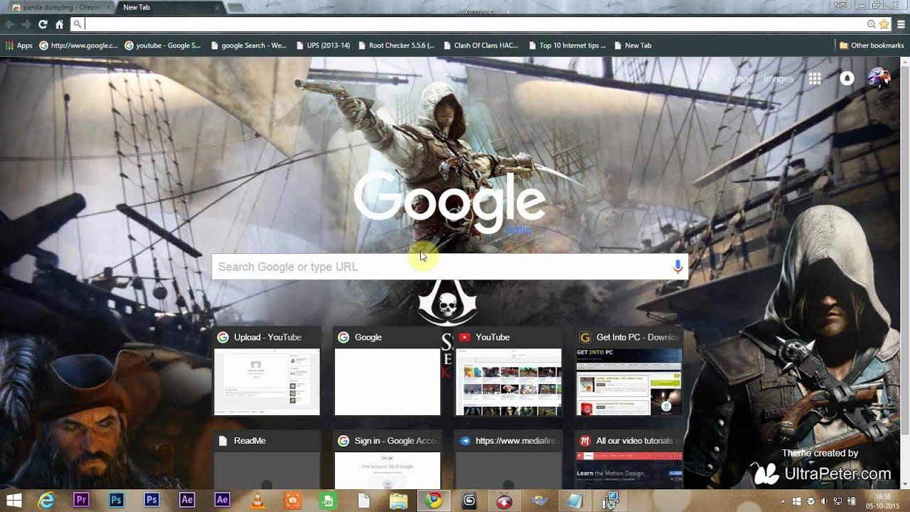 Google chrome themes video games - How To Change Google Chrome Theme