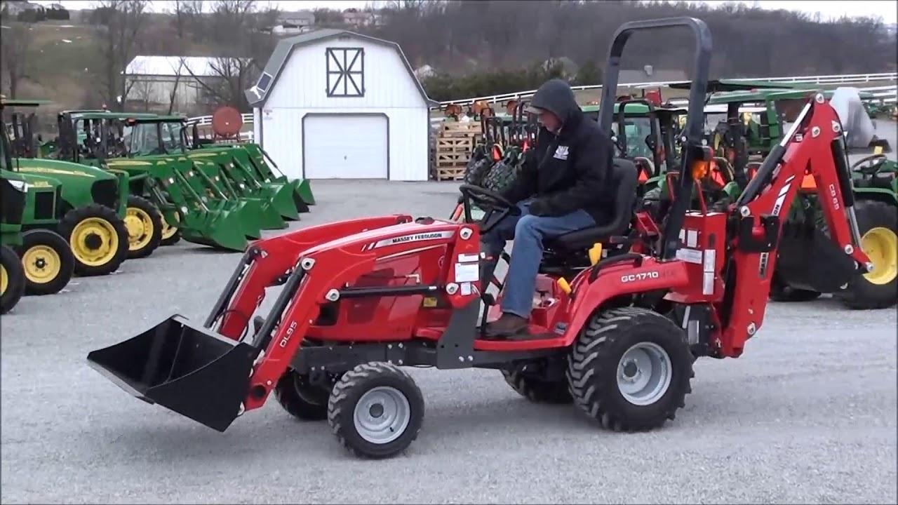2018 Massey Ferguson GC1710 Tractor with Loader & Backhoe, For Sale!
