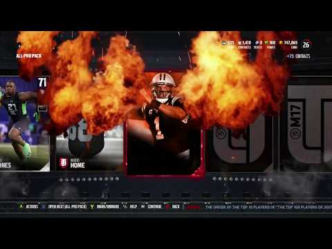 Pulling Packs for UL Lawyer Milloy and Dallas Clark! - MUT 17 Weekend Pack Opening