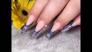 арочное моделирование ногтей аквариумный дизайн