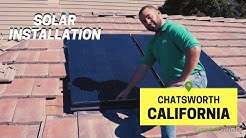 Solar Installation in Chatsworth, CA with Unirac Solarmount by Green Solar Technologies