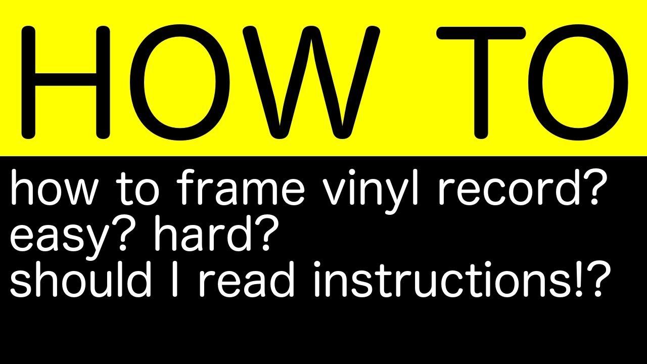 Spiksplinternieuw I framed the vinyl with IKEA Lomviken - YouTube VT-11