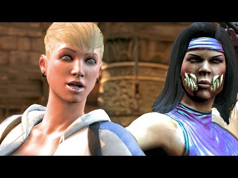 Mortal Kombat XL All Funniest Cassie Cage Intro Dialogues
