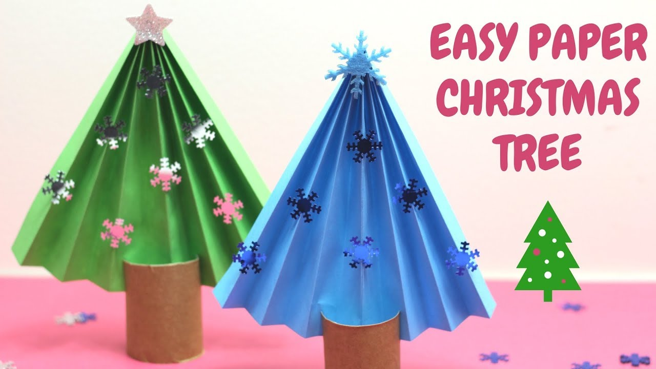Easy Paper Christmas Tree Christmas Ideas Youtube