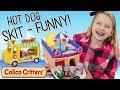 Calico Critters Kids Cruise SKIT - Baby Elephants Break Hot Dog Stand