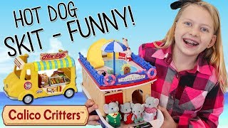 Calico Critters Cruise Bad Baby Elephants Break Hot Dog Stand