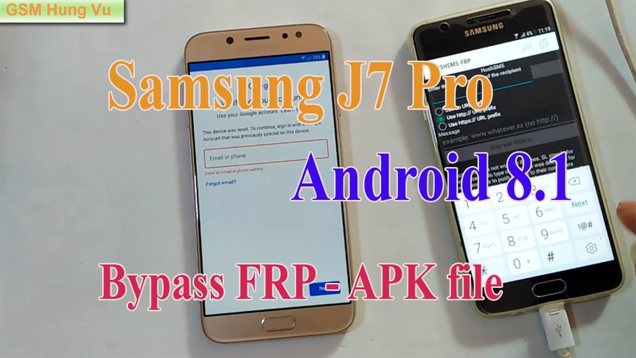 Bypass Google Account (FRP) J7 Pro Android 8 1 by APK FILE