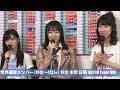 HKT48 田島芽瑠 第10回AKB48総選挙2018直後インタビュー 山本彩 柏木由紀