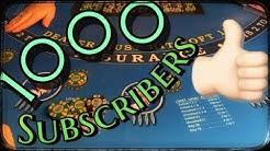 Blackjack 1000 subscirbers special