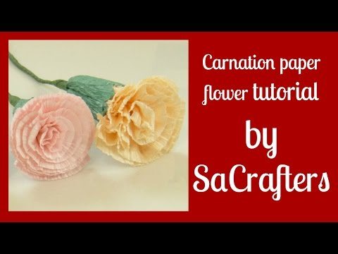 DIY:How to:Carnation paper flower tutorial by SaCrafters