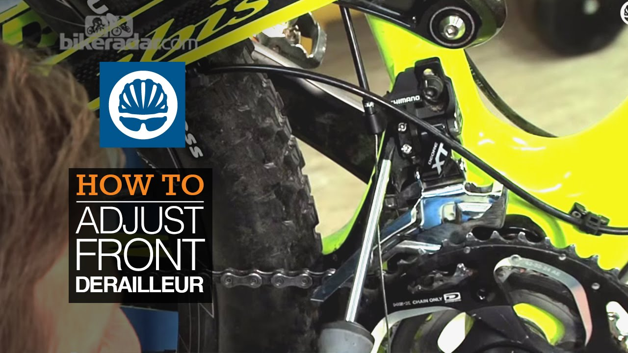 How To Adjust Front Derailleur Youtube
