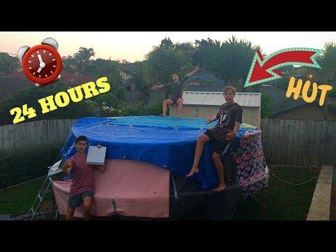 24 Hours In A Trampoline Hut // Premium Shots