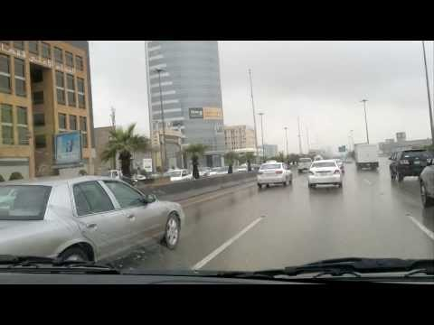 Heavy rain in riyadh city