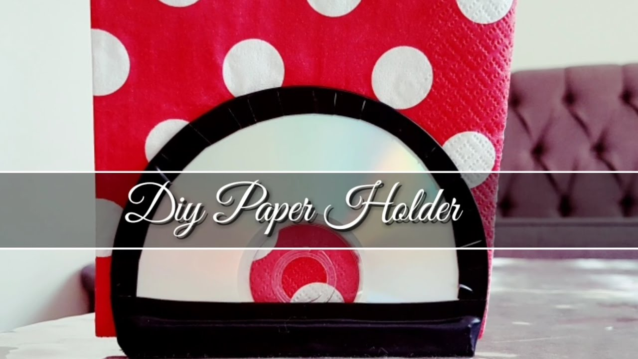 Diy napkin holder from cds youtube diy napkin holder from cds solutioingenieria Image collections