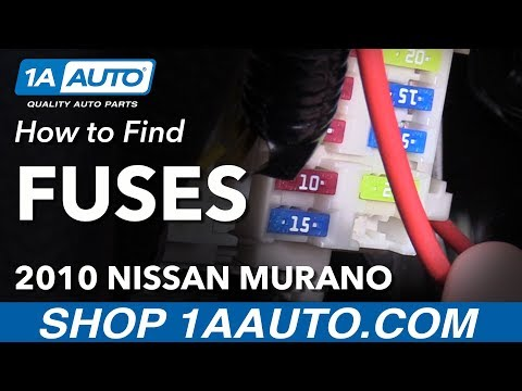 [NRIO_4796]   Where to Find How to Change Fuses 09-14 Nissan Murano - YouTube | 2015 Murano Fuse Box Designations |  | YouTube