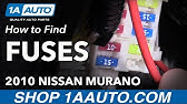 Nissan Murano 2002 2007 Fuse Box Diagrams Youtube