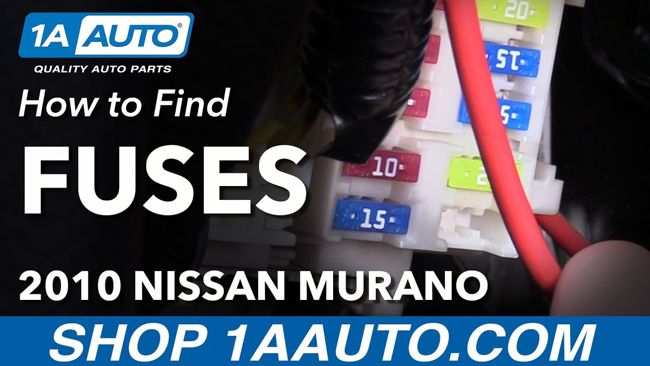 where to find how to change fuses 09 14 nissan murano youtube 2009 nissan murano fuse box 2009 nissan murano fuse box [ 1280 x 720 Pixel ]
