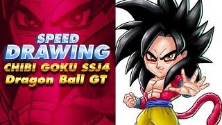 Speed drawing CHIBI GOKU SSJ4 Dragon Ball GT Xenoverse 2