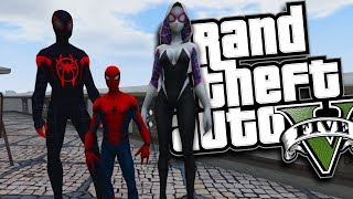 SPIDER-MAN: INTO THE SPIDER-VERSE HAVING A SUPER BABY MOD (GTA 5 PC Mods Gameplay)