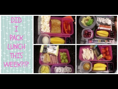 A Week of School Lunches!  + What She Ate!