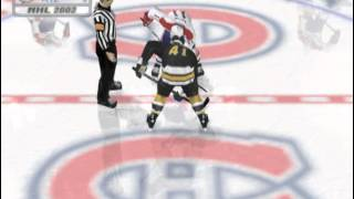 NHL 2002 (PLAYSTATION 2) Boston vs Montreal