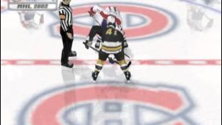 NHL 2002 (PLAYSTATION 2) Boston vs Montreal