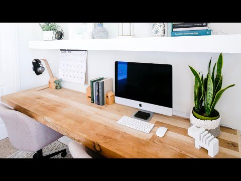 Floating Wall Mounted Computer Desk | From Hardwood flooring Material