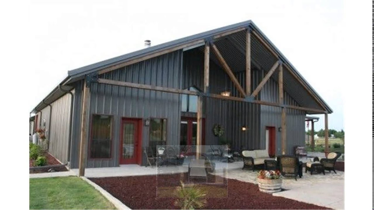 Steel building homes youtube for Metal barn home kits