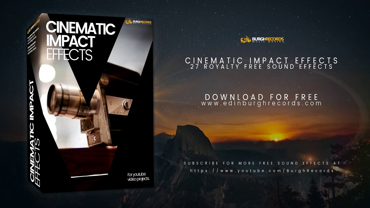 Cinematic Impact Sound Effects | Free Download | BurghRecords