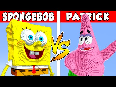 SPONGEBOB vs PATRICK – PvZ vs Minecraft vs Smash