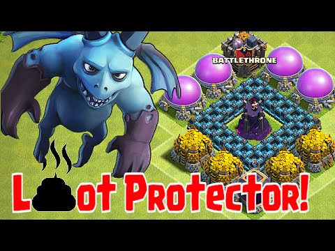 Clash Of Clans Minion Vs. Lavahound (Loot Protector!)