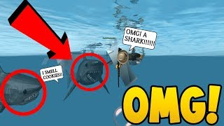 DOUBLE SHARKS IN THE WATER!! (Roblox SharkBite)
