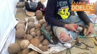 Cara Membuat Kerajinan Unik dari Tempurung kelapa