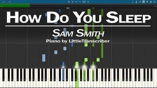 Sam Smith - How Do You Sleep (Piano Cover) Synthesia Tutorial by LittleTranscriber