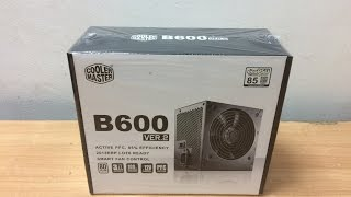 cooler Master B600 Ver.2 600 Watts Power Supply Unboxing