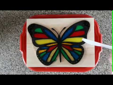 Scroll saw butterfly and resin..Fail or Not