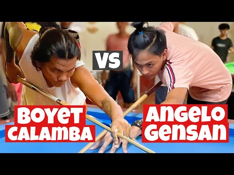 Boyet Calamba Vs Angelo the 19 Year old rising star from General Santos City | 10 Ball | Billiard