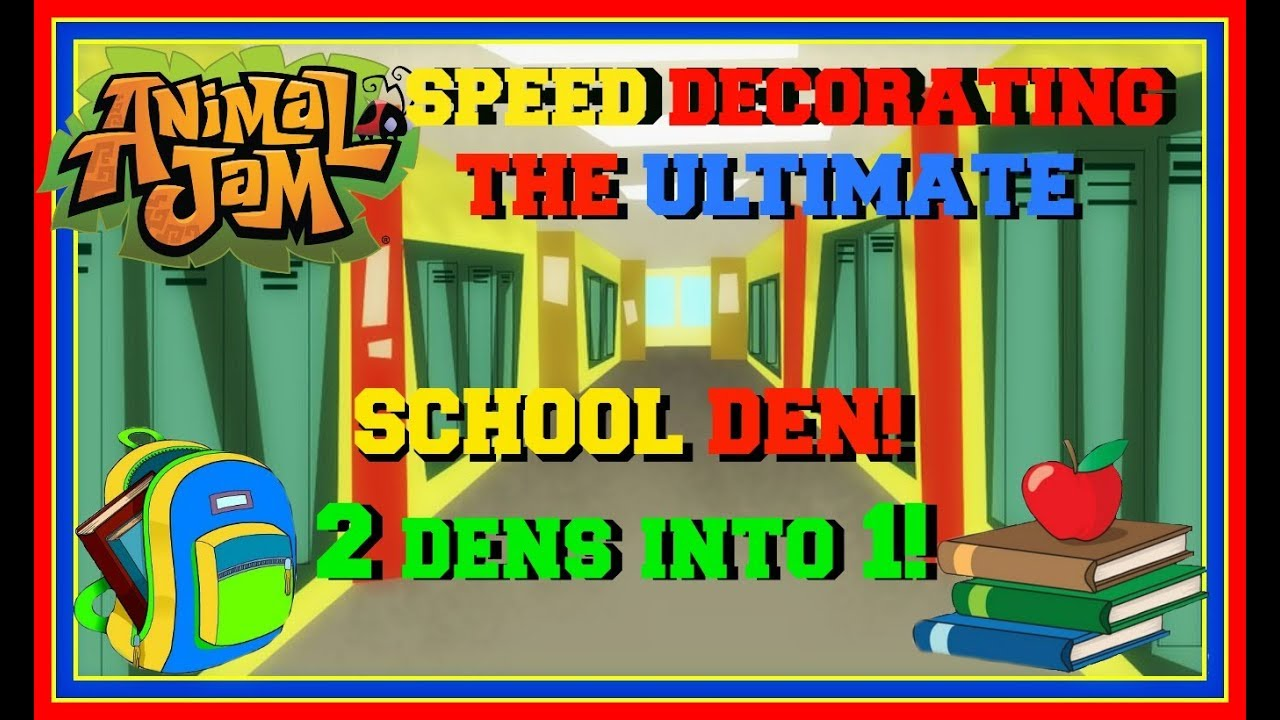 Download Animal Jam: Speed Decorating The Ultimate School Den! (Combining 2 Dens Into 1!)