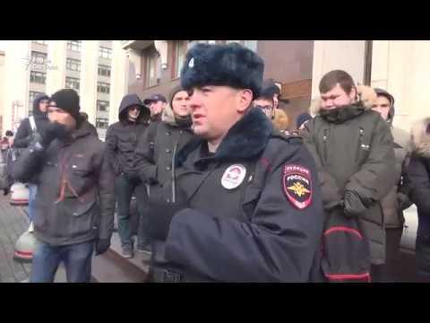 Задержания на Манежной площади в Москве 5/11/17