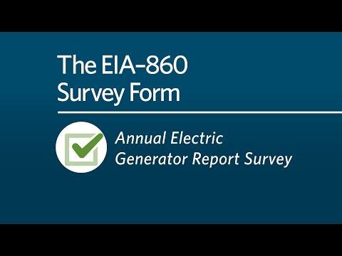 The EIA-860 Survey Form Tutorial