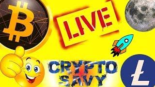 Crypto Savy LIVE, bitcoin litecoin price prediction, analysis, news, trading