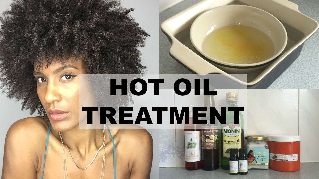Overnight Hot Oil Treatment For Dry Damaged Natural Afro Hair You