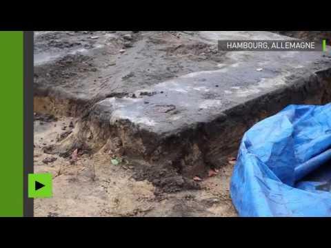Une énorme croix gammée découverte sous un terrain de sport à Hambourg