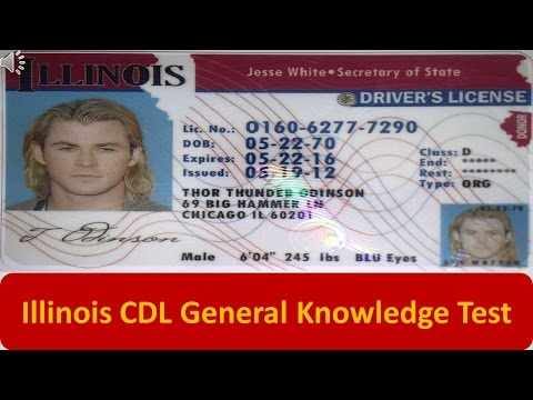 Illinois CDL General Knowledge Test
