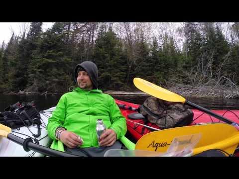 Algonquin Park Portage Trip - PART 6 of 7 May 2015 -- Day Trip Kayak Sailing
