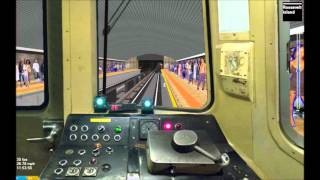 OpenBVE HD: Operating NYC Subway R46 F Train w/ Timers (Coney Island - Jamaica-179th St) Timelapse