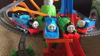Thomas & Friends The Great Race Trackmaster Sky High Bridge Jump - Highest Jumper Sky Jump Playtime