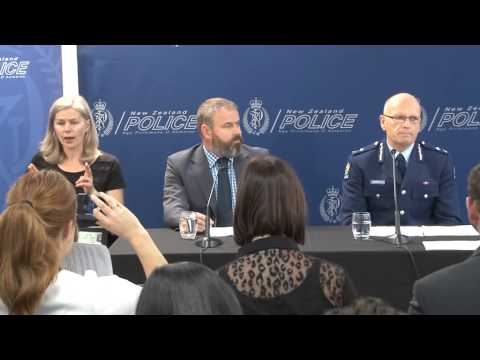 NZ Govt and Police Media Briefing on blackmail contamination threat